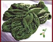 Twisted Vine Neckwarmer KNIT PDF Pattern  Great fun to knit