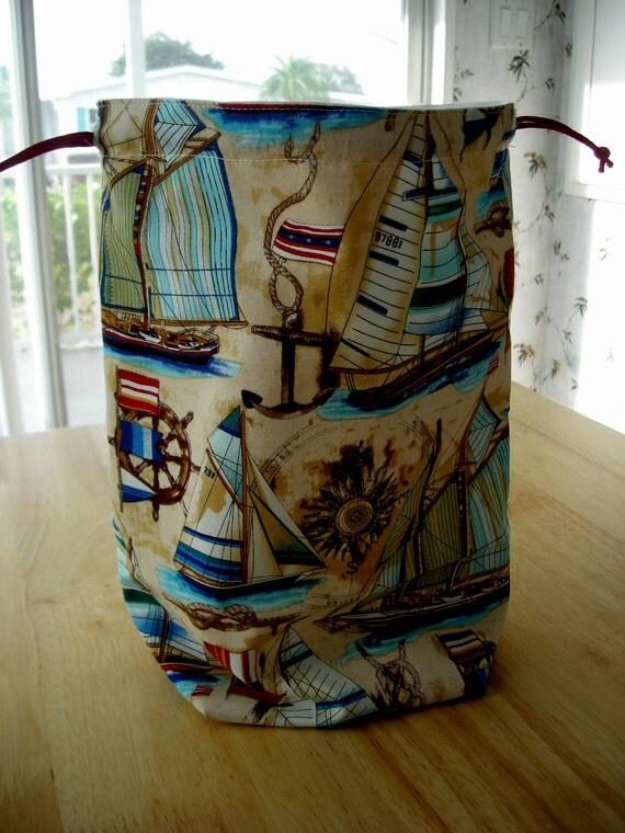 The Weekend Project Bag  Medium size bag   SAIL BOATS   B -44