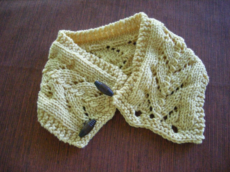 Horseshoe Lace Scarf Knit pdf Pattern