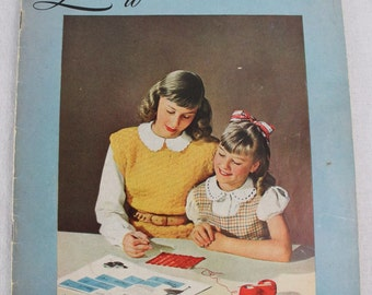 CROCHET pattern book - 1948 - Learn to CROCHET - vintage - great photos - The Spool Cotton Company - Clarks O.N.T. - J and P Coats