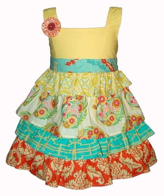 SAMPLE SALE - April Dress in Poppy - Size 4