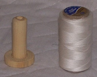 Wooden Adapter for Large Spool of Thread