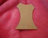 Dress Bodice Mosaic Base/Unfinished Mdf Wood Craft Shape 9 inch