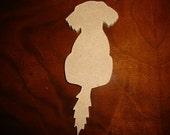 Puppy Dog Unfinished Craft Shape/Mosaic Base Small 1/4 Inch Thick