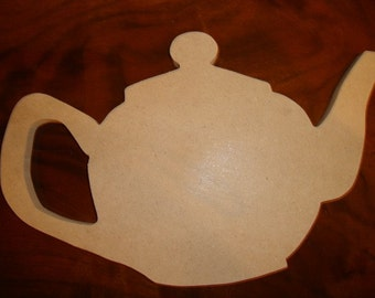Unfinished Teapot Mosaic Base or Craft Shape from Mdf Wood