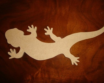 Unfinished Small Mdf Gecko Mosaic Base