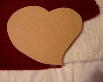 Funky Heart Unfinished Mdf Wood Mosaic Base/Craft Shape