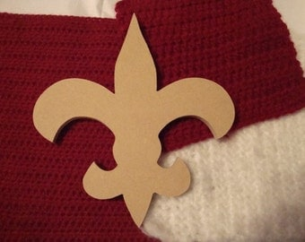 Fleur De Lis Mosaic Base/Unfinished Mdf Wood Craft Shape 1/4 inch