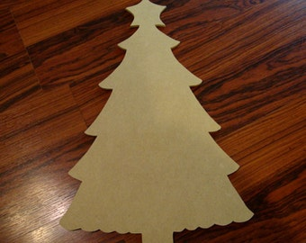 Unfinished Mdf Wood Christmas Tree Mosaic Base/Craft Shape 17 Inches Tall 1/4 Inch Thick