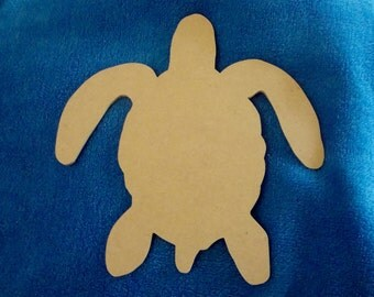 Unfinished Sea Turtle MDF Wood Mosaic Base Craft Shape Choose Your Thickness