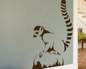 Lemur - Animals - Wall Decal- Your Choice of Color -