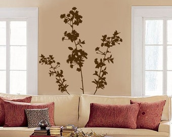 Large Cherry Blossoms - Flowers and Branches - Set of Three - Vinyl Wall Decals - Your Choice of Color