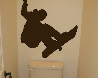 Snowboarder Jumping - Wall Decal - Your Choice of Color