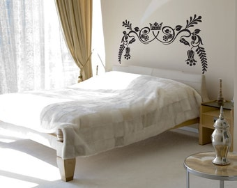 Royal Ornate Headboard - Vinyl Wall Decal - Your Choice of Color