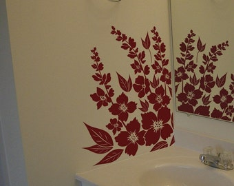 Hibiscus Flowers - Wall Decals - Your Choice of Color