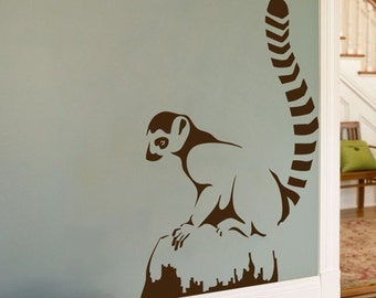 Lemur - Animals - Wall Decal- Your Choice of Color