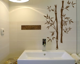 Asian Bamboo - Wall Decals - Your Choice of Color -