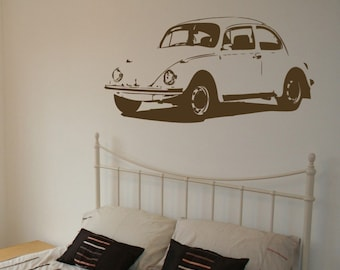 Vintage Car - Wall Decal - Your Choice of Color
