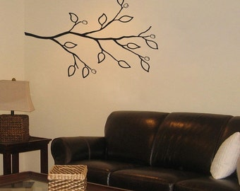 Cherry Buds - Cherry Blossom Branch - Vinyl Wall Decal - Your Choice of Color