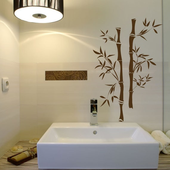 Asian Bamboo Vinyl Wall Decals - Your Choice of Color