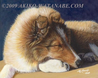 Open Edition Print of Sheltie Shetland Sheepdog Dog Painting