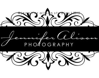 Premade Damask Business Logo Design and Watermark