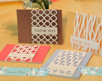 Thank You Card Overlay SVG and DXF Files