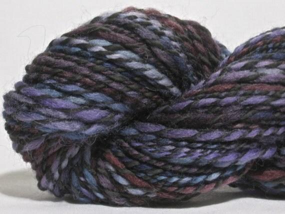 Handspun Yarn - Falkland Wool and Carbonized Bamboo - 116 yards Aran Weight