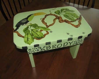 Stepping stool Chair - Personalized