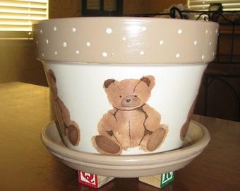 Teddy Bear Flower Pot
