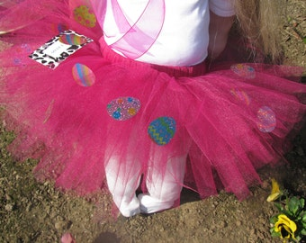 Pink Tutu with  Easter Eggs