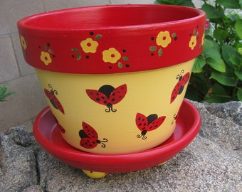 Ladybug Planter ... Flower Pot