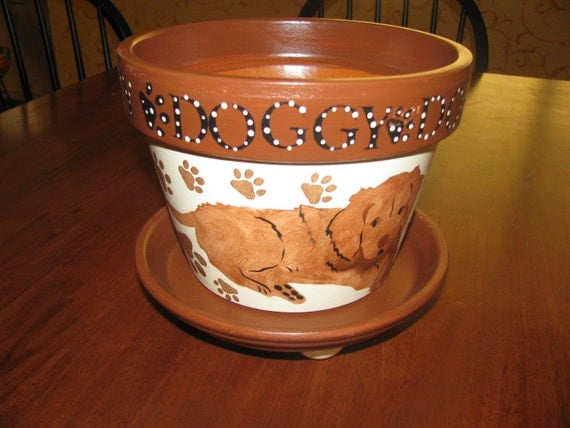 Dog Flower Pot