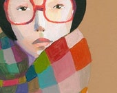 Portrait with glasses  print
