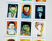 12 tiny portraits