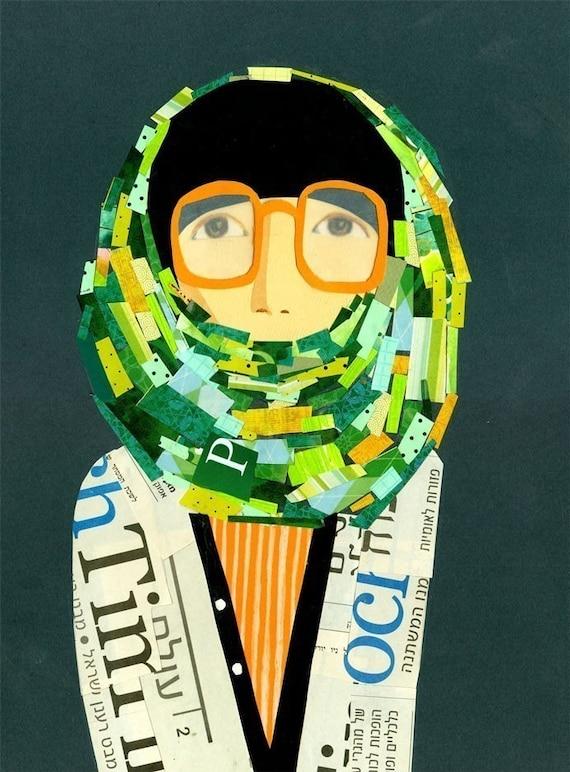 Yokoo collage print