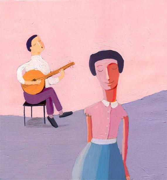 Sound of Music  original illustration