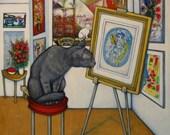 A Cat named Chagall. Heidi Shaulis print.