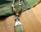 Olive Jade Necklace