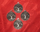 Wholesale  Lot  Of  Four  33MM Large Tree Of Life Pendants