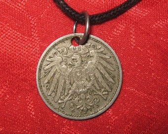 Authentic Vintage German Eagle Coin Pendant Necklace