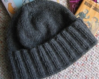 Knitting Pattern Hat and Scarf New York-- A Guy's Wool Hat Instant PDF Download Designer J. L. Fleckenstein