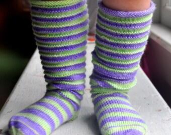 Sock Knitting Pattern Slouchies Toddler Socks and Leg Warmers - Online Download Pattern by J. L. Fleckenstein