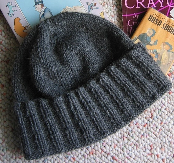 Knitting Pattern Guy : New York A Guys Wool Hat Knitting Pattern ONLINE