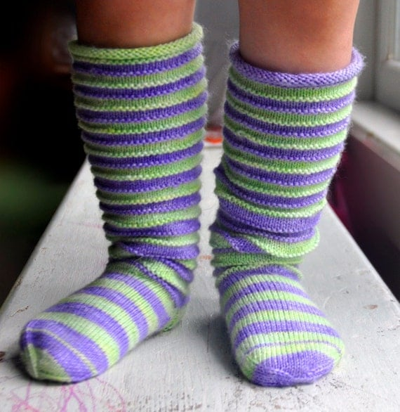 Knitting Pattern For Leg Socks : Sock Knitting Pattern Slouchies Toddler Socks and Leg Warmers