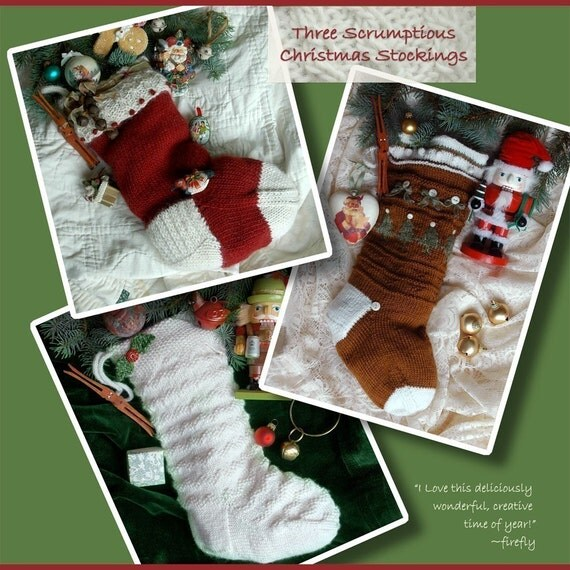 Christmas Stocking Knitting Pattern Download : Christmas Stocking Knitting Patterns Instant PDF DOWNLOAD