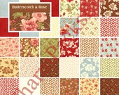 """BUTTERSCOTCH and ROSE - Moda Charm Pack - 5"""" Quilt Fabric Squares - Fig Tree - sku 20170PP"""