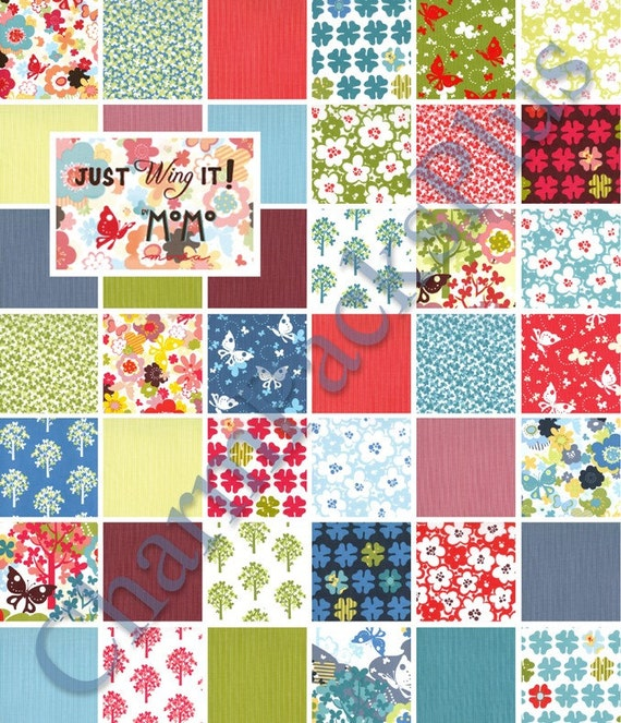 just wing it moda charm pack quilt fabric squares