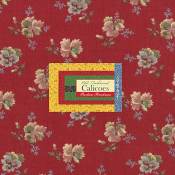 OLD FASHIONED CALICOES - Moda Layer Cake  by Barbara Brackman - Ten Inch Quilt Fabric Squares