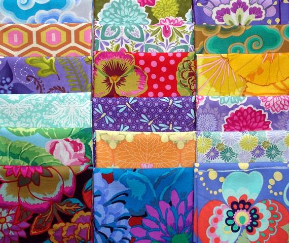 18 Assorted Fabric Fat Quarters - Kaffe Fassett, Amy Butler, Moda